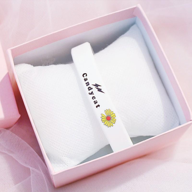 [Mã FAMAYFA giảm 10K đơn 50K] Vòng đeo tay Cadycat VTHC05 cao su họa tiết Hoa Cúc tuyệt đẹp
