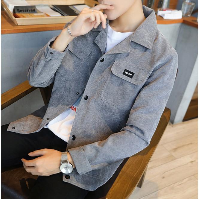 Áo Khoác Nam phong cách trai Hàn đơn giản - Áo Khoác Nam phong cách trai Hàn đơn giản