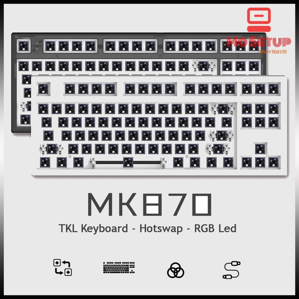 MK 870 - KIT Bàn phím cơ - Kit mechanical keyboard - Hotswappale Switch - MK870