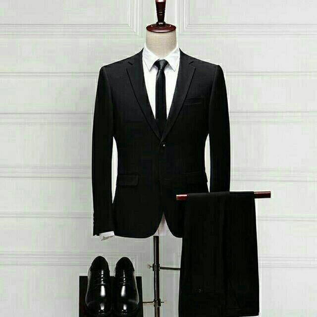Bộ Vest nam màu đen cao cấp QA88
