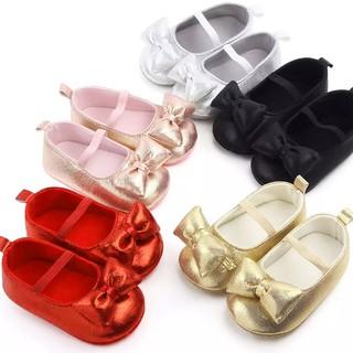 Giày tập đi chống trượt lung linh cho bé gái 0-18 tháng tuổi êm chân phối nơ xinh xắn BBShine TD24 thumbnail