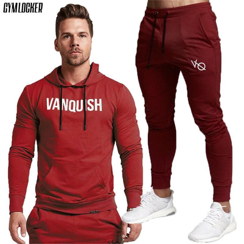 Wandergo Wholesale New 2019 Set Men's Fashion Sportswear Tracksuits Sets Men's