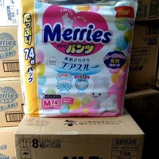 Jumbo tã Merries nội địa Nhật, tã dán, tã quần size M74, M76, L64, L56, XL50, XXL32 hàng chất lượng