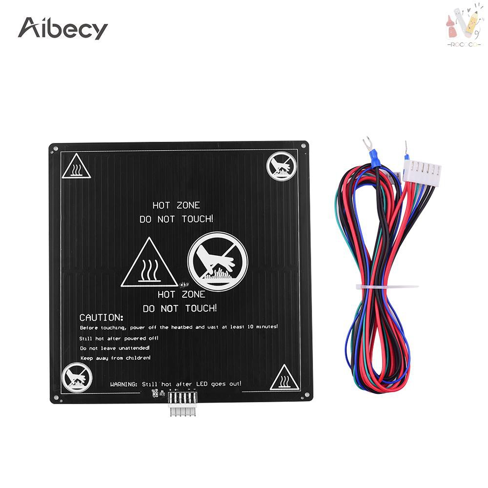 ❤ COD Aibecy Aluminum Heated Bed 12V Hotbed 220*220*3mm with Wire Cable Heatbed Platform Kit for Anet A8 A6 3D P