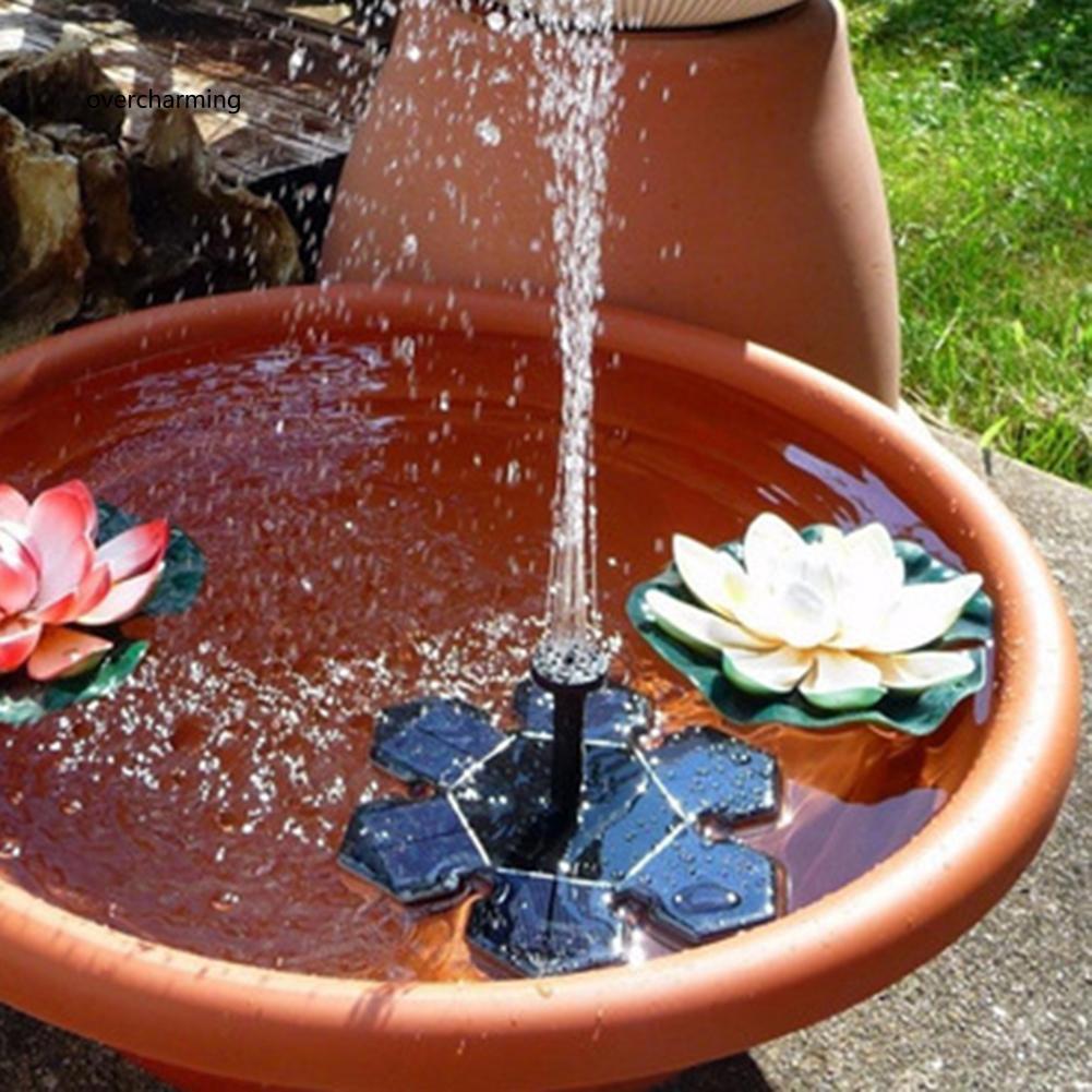 J_Solar Power Garden Decor Floating Fountain Freestanding Submersible Water
