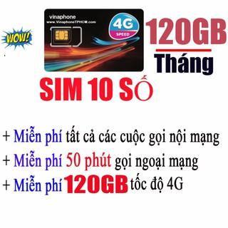 Sim 10 Số Dễ Nhớ 4G Vinaphone VD89Plus 120GB-Tháng