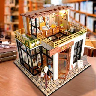 Kèm Mica và keo dán – Mô hình nhà gỗ búp bê Dollhouse DIY – TD31 You Ran Bookshop