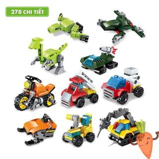 Xếp hình mô hình LEGO các loại xe, máy bay, khủng long giúp bé phát triển trí não CAROBY 2102