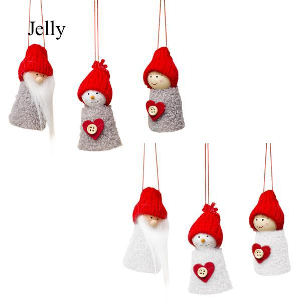 3pcs Small Lovely Christmas Claus Doll Hanging Ornaments Tree Decorations J794