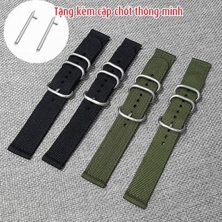 [Mã FAMAYFA2 giảm 10K đơn 50K] Dây đồng hồ nato kèm chốt thông minh, dây đồng hồ vải dù size 18mm, 20mm, 22mm - D1803