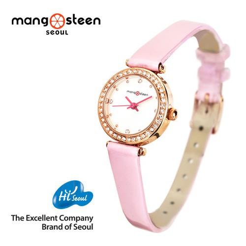 Đồng hồ nữ MS513D MANGOSTEEN SEOUL Hàn Quốc dây da (Hồng) : cao cấp : Chất lượng