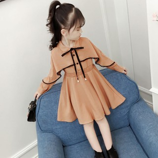 (LD003) Váy liền áo dáng xòe tay dài thướt tha nữ tính