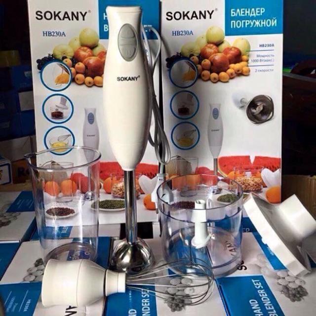 Bộ máy xay đa năng cầm tay Sokany
