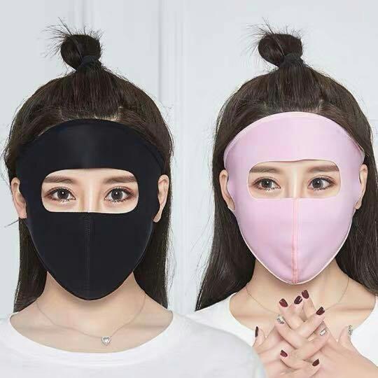 Combo 02 khẩu trang nữ xuất NHật kín mặt trán Ninja mới hot 2019