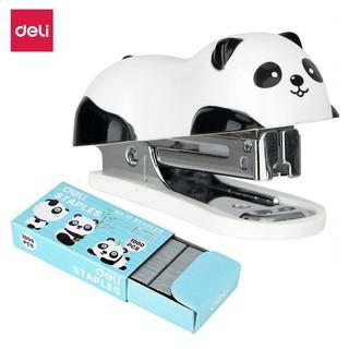 [Nowship] Bấm Kim Panda [Kèm 1 Hộp Ghim] DELI E0453
