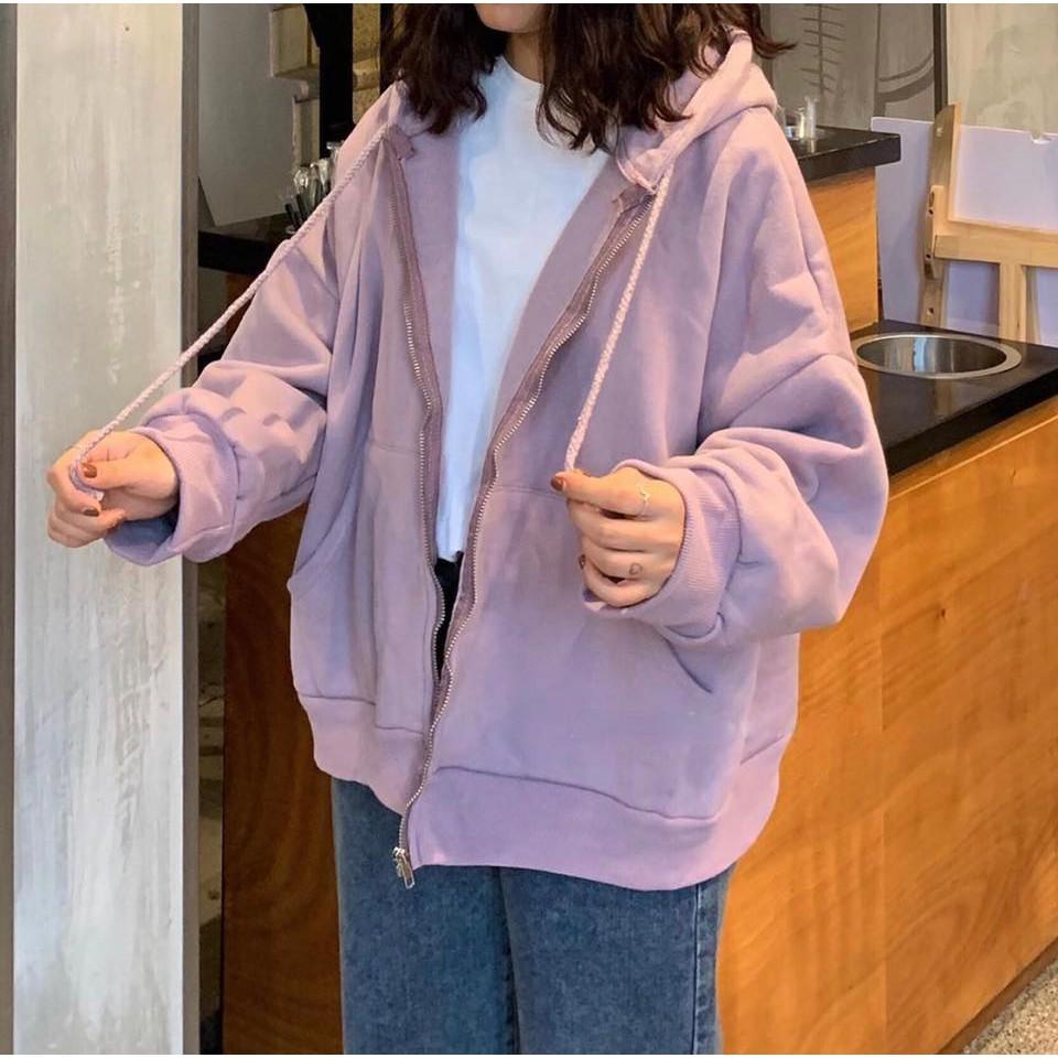 áo khoác nỉ jacket basic dây kéo