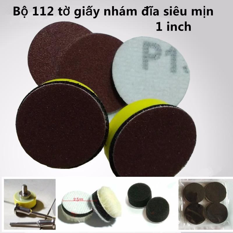 Bộ 112 tờ giấy nhám đĩa siêu mịn 1 inch - 10010391 , 891898631 , 322_891898631 , 140000 , Bo-112-to-giay-nham-dia-sieu-min-1-inch-322_891898631 , shopee.vn , Bộ 112 tờ giấy nhám đĩa siêu mịn 1 inch