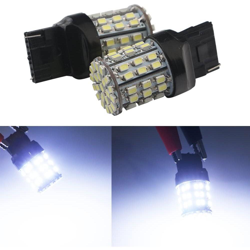 Đèn Led Chân T20 7443 - 64SMD 1206 Cho Xi Nhan, Đèn demi, Đèn lùi ô tô, Đèn Hậu, xe máy, xe đạp điện