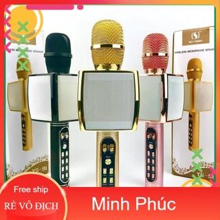 Micro Karaoke YS-91 hàng loại 1, Mic hát karaoke bluetooth hỗ trợ ghi âm thẻ nhớ, USB - Tainghetomi