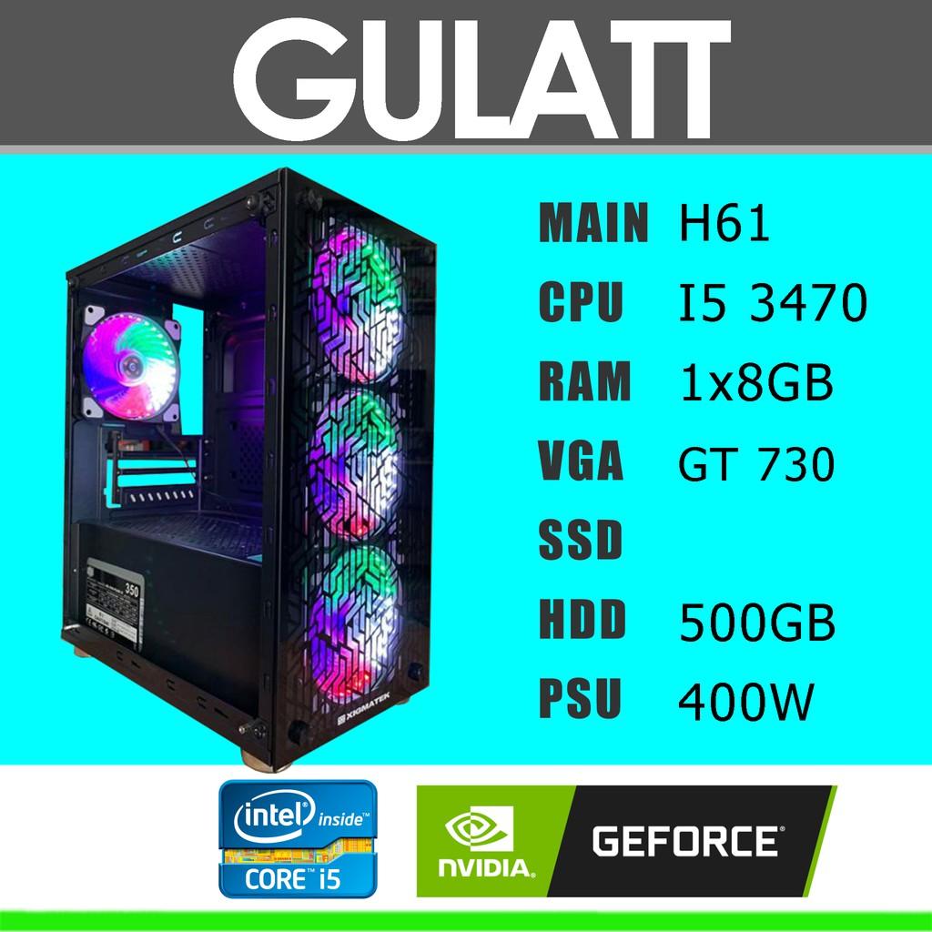 """Trọn bộ máy tính chơi game giá rẻ I5 3470/H61/RAM 8GB/GT 730/HDD 500GB/Màn hình BenQ 22"""" phím chuột lót chuột"""