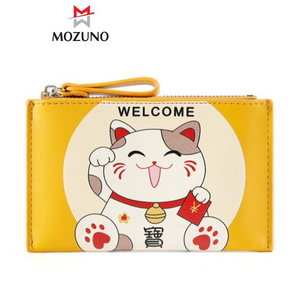 Ví Nữ Mini Đẹp Chính Hãng TAOMICMIC Dáng Vuông Chú Mèo Chất Đẹp Đựng Tiền Đựng Thẻ Siêu Xinh TM34 - Mozuno