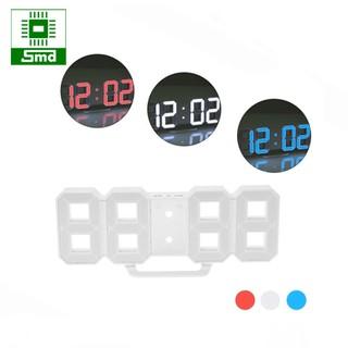 Đồng hồ led 3D treo tường - Led đỏ - trắng - xanh dương
