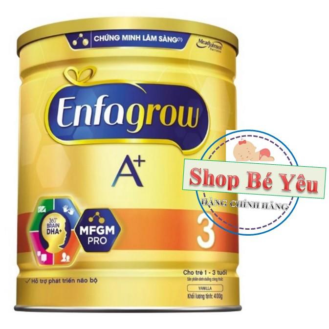 Sữa bột Enfagrow A+ 3 DHA+ và MFGM 400g