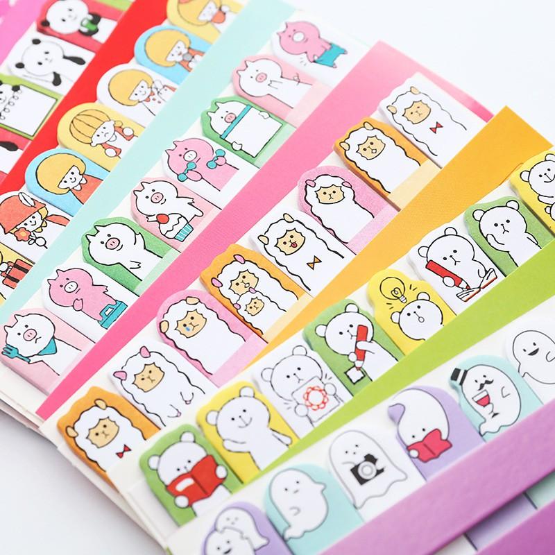 Giấy đánh dấu trang, giấy note trang hoạt hình dễ thương