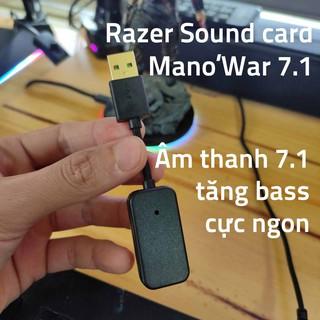 USB sound card Razer Mano war âm thanh 7.1 3D cho Máy Tính Và Laptop không có led RGB có mic để nói chuyện thumbnail