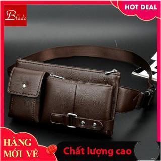 Túi đeo chéo. Túi đeo hông nam bằng da phong cách Hàn Quốc TD050