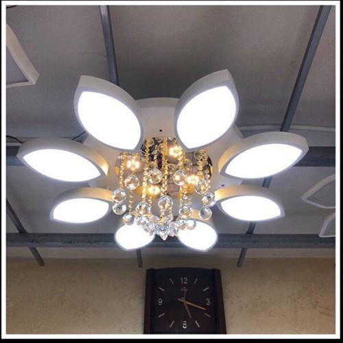 Đèn trần Led CASIANA 8 cánh 3 chế độ sáng trang trí nhà cửa - có điều khiển từ xa tiện dụng