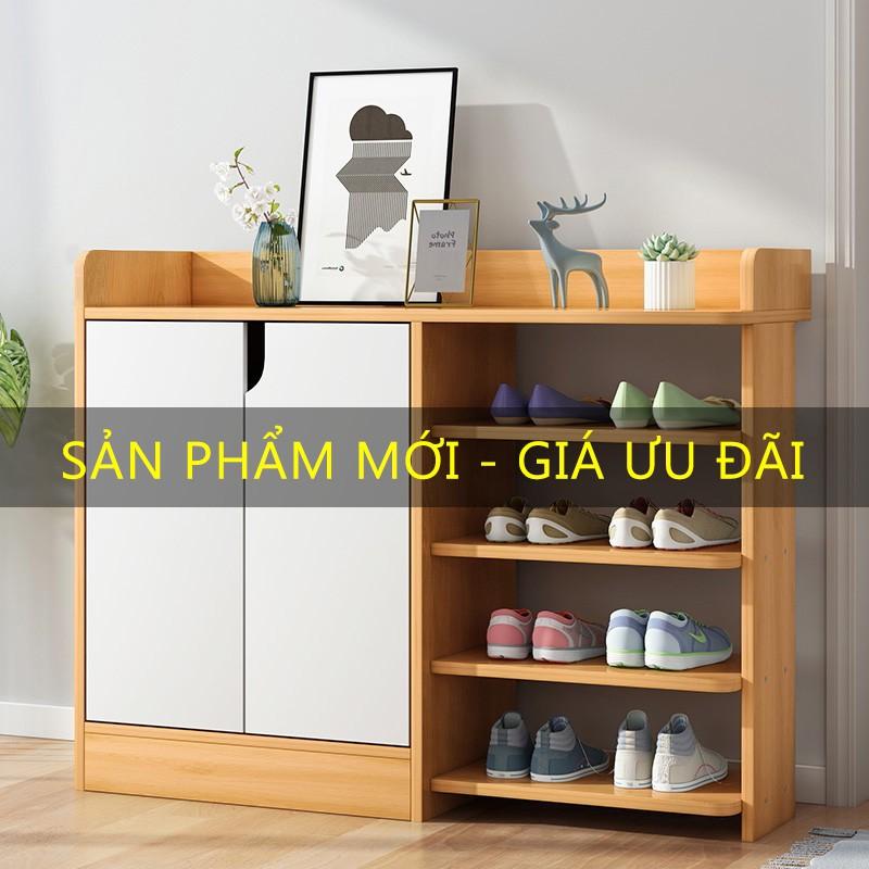 Giá giày gỗ đơn giản hiện đại kích thước lớn .