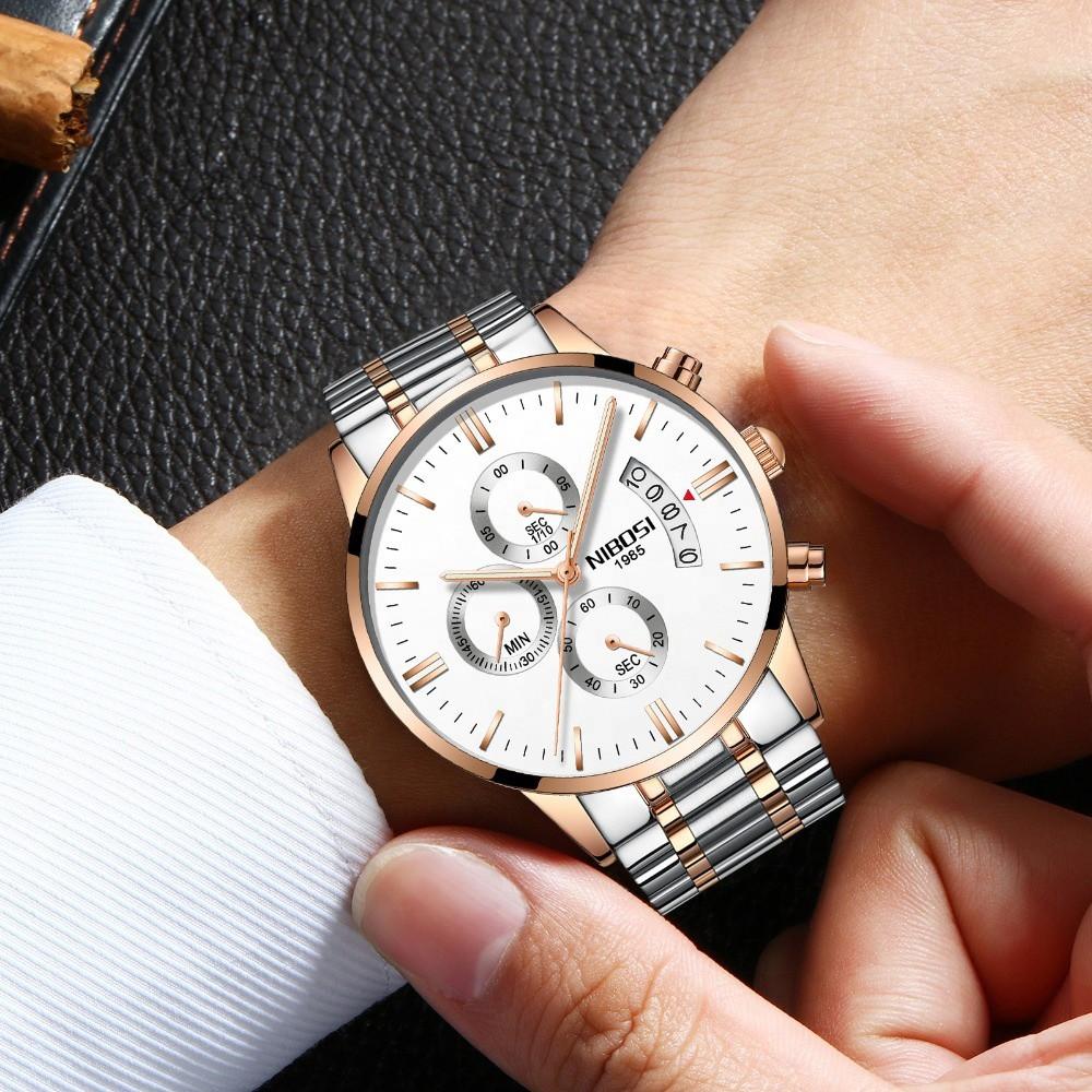 [Tặng vòng tay]Đồng hồ nam NIBOSI chính hãng NI2309.07 Fullbox mặt tròn