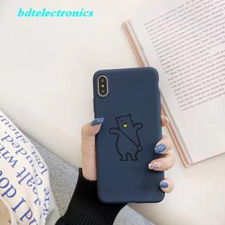 Ốp lưng nhám hình chú gấu đeo túi cho điện thoại Samsung Note 9 8 C5 C7 C9 Pro