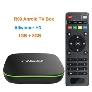 Bộ Tv Box R69 Android 71 Allwinner H3 Quad Core 1g + 8g Wifi 24 Ghz 1080p Hd Chất Lượng Cao