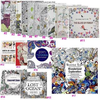 Beautiful Secret Garden Coloring Book For Children Adult Relieve Stress Kill Time Graffiti Painting Drawing Book