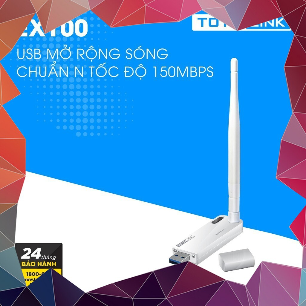(KHUYẾN MÃI MỚI) Thiết bị mở rộng sóng Wi-Fi nguồn USB TotoLink EX100 (Trắng)