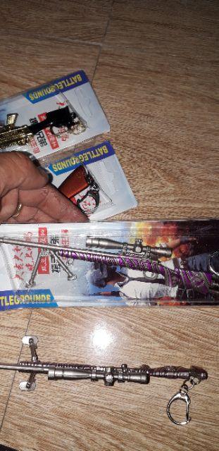 Mô hình súng game Pubg bằng thép không gỉ dài 16cm có 3 mẫu