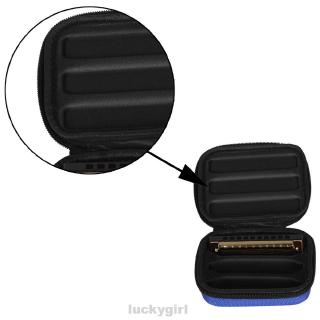10 Holes Stable Structure Modern Holder Easy Carry Woodwind Instrument Oxford Cloth Large Capacity Harmonica Storage Bag