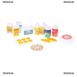 12Pcs/set Doll Accessories For Dolls Kitchen Cake bottle Play House Toys