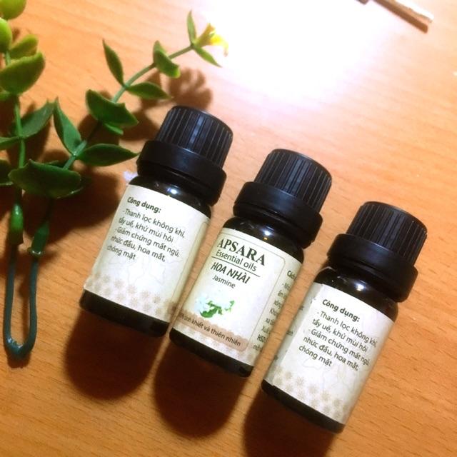 Combo 3 lọ tinh dầu xông thơm phòng loại 10ml hương hoa nhài. Sản phẩm 100% thiên nhiên