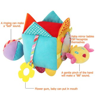 Baby Plush Rattles Bell Toys Newborn Teether Stroller Hanging Puzzle Toy