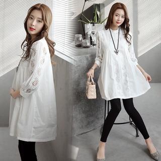 Đầm Ren Cho Con Bú Phong Cách Hàn Quốc