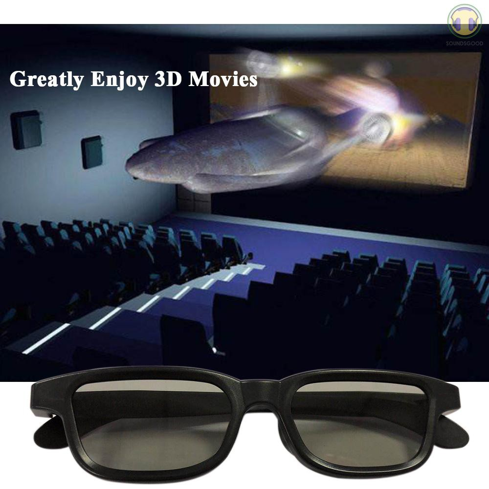 S&G G90 Passive 3D Glasses Polarized Lenses for Cinema Lightweight Portable for Watching Movies