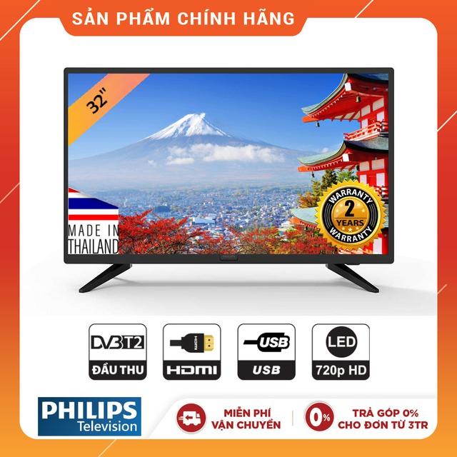 Tivi Philips Led HD 32 inch- 32PHT4003S/74 (Chính Hãng Phân Phối)