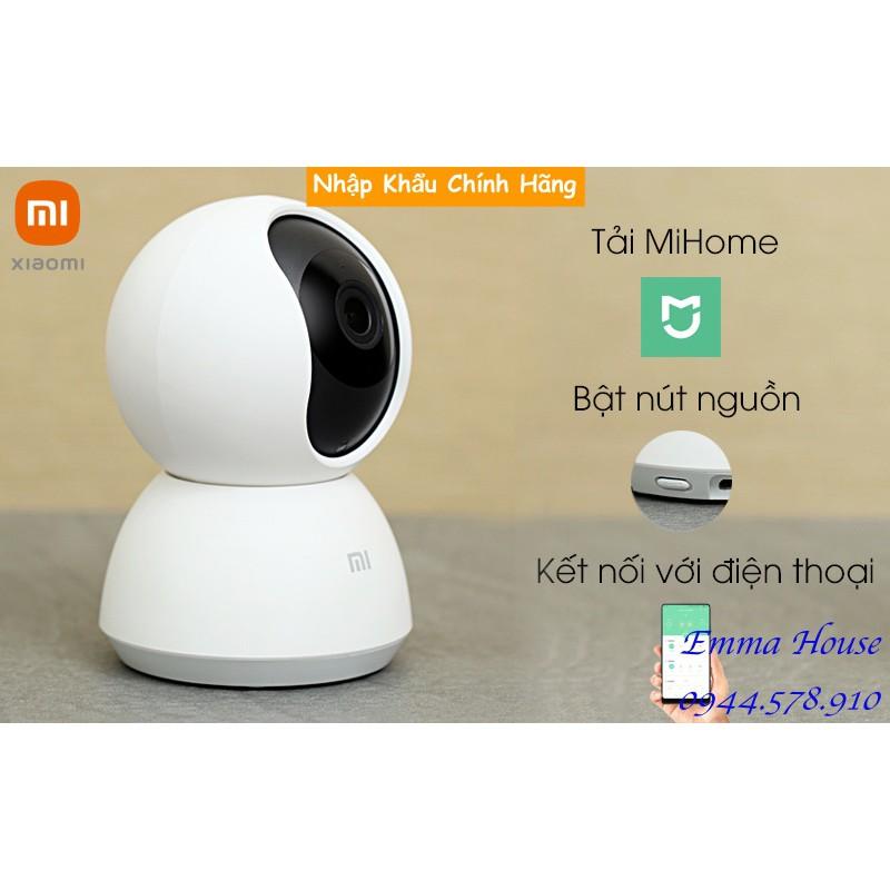 [Mã Hoàn Xu 50k] Bản Quốc Tế - Camera Xiaomi Mijia PTZ 1080p xoay 360° 2020 - Hàng Chính Hãng, BH 03 Tháng - Full box