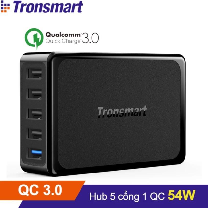 Sạc TRONSMART U5PTA 5 cổng 54w Quick Charge 3.0 (Đen) - Hãng phân phối chính thức - 3597337 , 1081847672 , 322_1081847672 , 615000 , Sac-TRONSMART-U5PTA-5-cong-54w-Quick-Charge-3.0-Den-Hang-phan-phoi-chinh-thuc-322_1081847672 , shopee.vn , Sạc TRONSMART U5PTA 5 cổng 54w Quick Charge 3.0 (Đen) - Hãng phân phối chính thức