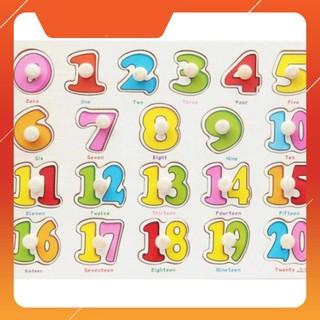 [H-HOT] Bảng ghép hình bằng gỗ bảng số đếm 0-20 cho bé yêu Giá Rẻ