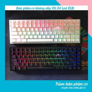 Bàn phím cơ chơi game RK 84 Led RGB ,Bàn phím cơ không dây Xinmeng RF84, dùng cho pc laptop và điện thoại thumbnail