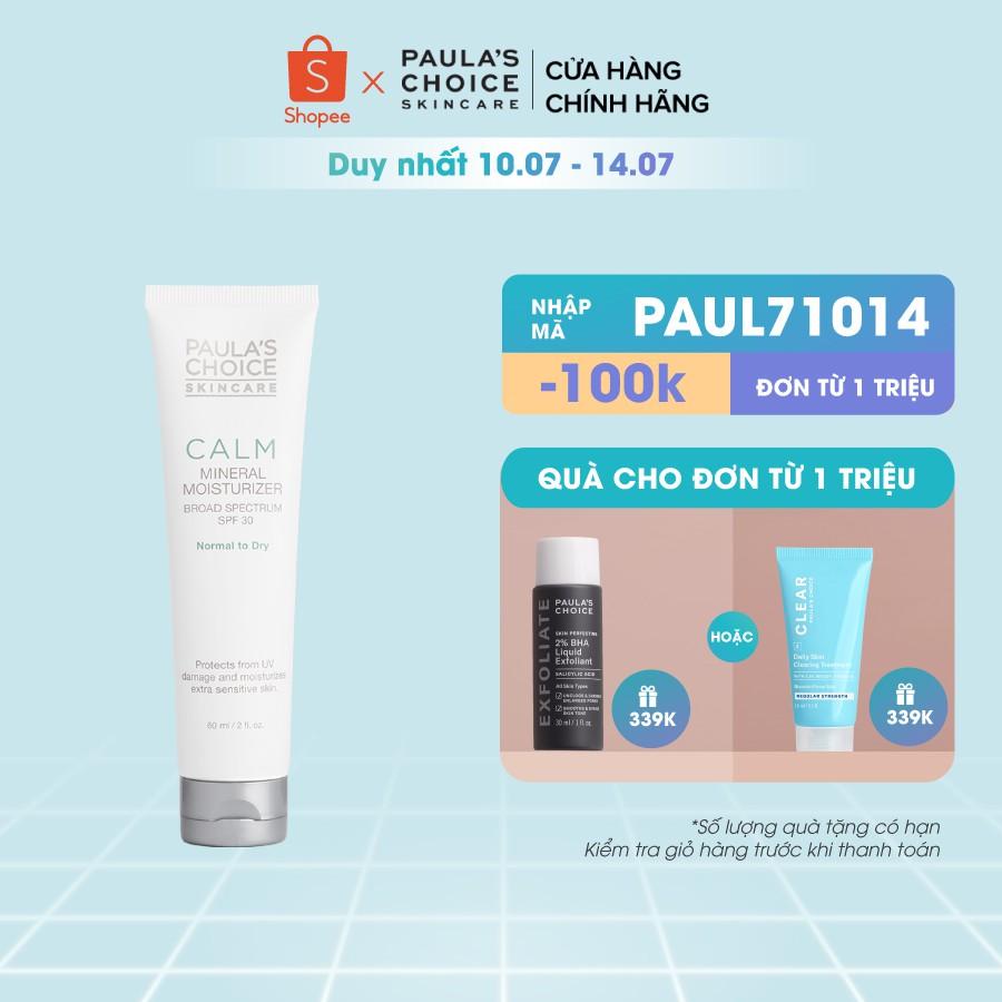 Kem chống nắng chống lão hóa dành cho da khô Pau's Choice Calm Mineral Moisturizer SPF 30-60ml 9130